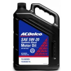 MOTOR OIL ACDELCO 5W20 5 QUART SYNTHETIC BLEND 5L